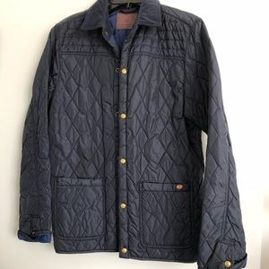 Men's Scotch&Soda quilted navy jacket